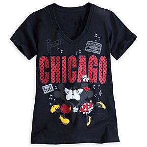 Mickey and Minnie Mouse Around the World Tee for Women