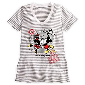 Minnie and Mickey Mouse Around the World Tee for Women - New York City