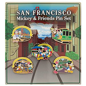 Mickey Mouse and Friends Pin Set - San Francisco