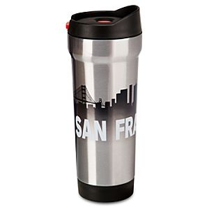 Mickey Mouse Icon Skyline Travel Mug - San Francisco
