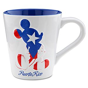 Puerto Rico Flag Mickey Mouse Mug
