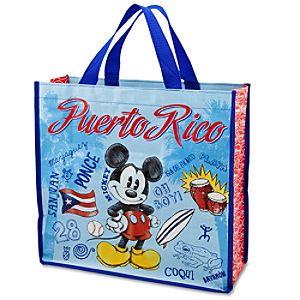 Reusable Puerto Rico Mickey Mouse Tote