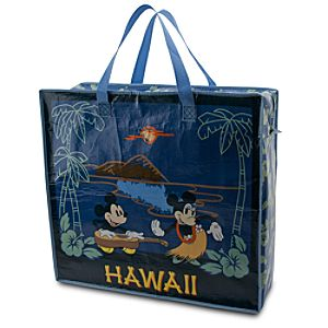 Large Reusable Hawaii Minnie and Mickey Mouse Tote