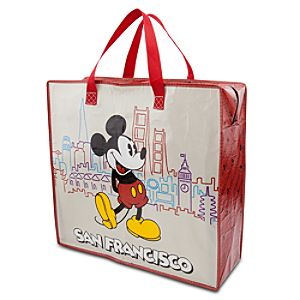 Large Reusable San Francisco Mickey Mouse Tote