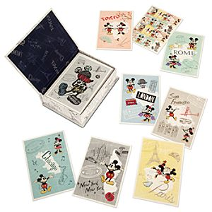Mickey Mouse Around the World Notecard Set