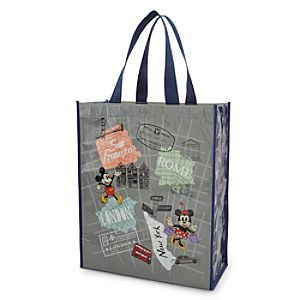 Mickey and Minnie Mouse Around the World Reusable Tote