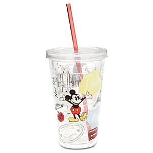 Mickey Mouse Around the World Tumbler with Straw