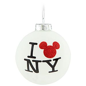 New York I Mickey NY Mickey Mouse Ornament