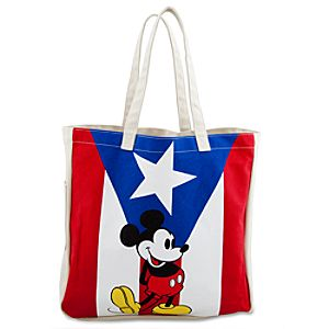 Puerto Rico Canvas Mickey Mouse Tote