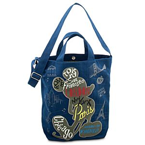 Mickey and Minnie Mouse Around the World Canvas Tote