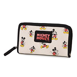 Mickey Mouse Canvas Wallet