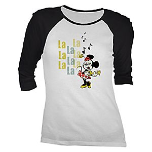 Mickey Mouse No Service Raglan Tee for Women - Customizable