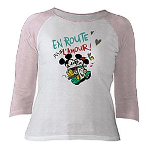 Mickey Mouse Croissant de Triomphe Raglan Tee for Women - Customizable
