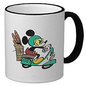 Mickey Mouse Croissant de Triomphe Ringer Mug - Customizable