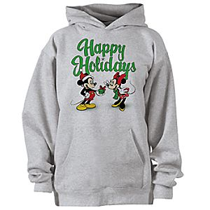 D23 Mickey and Minnie Holiday Fleece Hoodie for Adults - Create Your Own