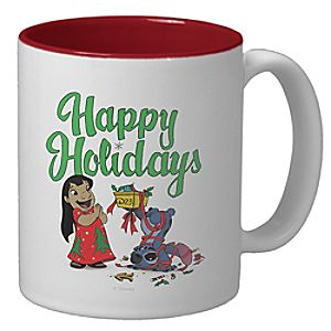 D23 Lilo & Stitch Holiday Mug - Create Your Own