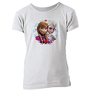 Anna and Elsa Tee for Girls - Frozen - Create Your Own