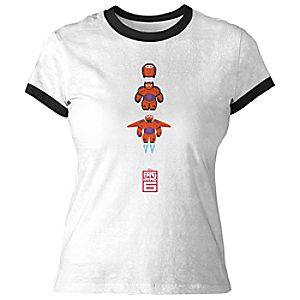 Big Hero 6 Baymax Mech Ringer Tee for Women