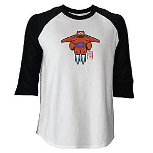Big Hero 6 Baymax Mech Raglan Long Sleeve Tee for Men