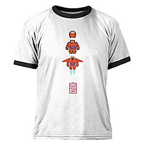 Big Hero 6 Baymax Mech Ringer Tee for Men