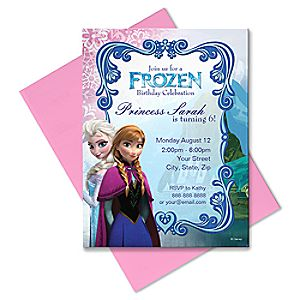Frozen Invitation - Create Your Own