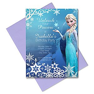 Elsa Invitation - Create Your Own