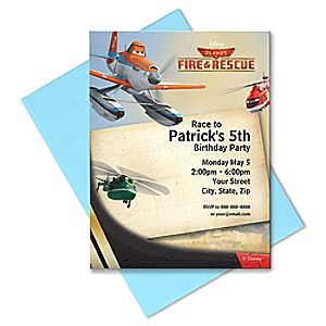 Planes: Fire & Rescue Invitation - Create Your Own
