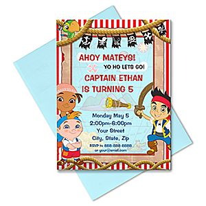 Jake and the Never Land Pirates Invitation - Create Your Own