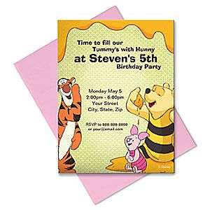 Winnie the Pooh and Pals Invitation - Create Your Own