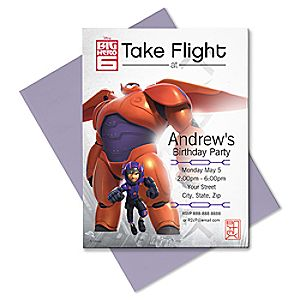 Big Hero 6 Invitation - Create Your Own