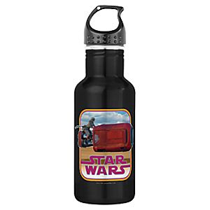 Rey and Speeder Water Bottle - Star Wars: The Force Awakens - Customizable