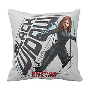 Black Widow Pillow: Captain America: Civil War - Customizable