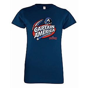 Captain America: Civil War Logo Tee for Girls - Customizable