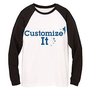 Customized D23 Single-Sided Long Sleeve Raglan Tee for Adults