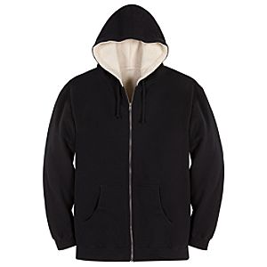 Customized Sherpa-Lined Zip Hoodie for Adults