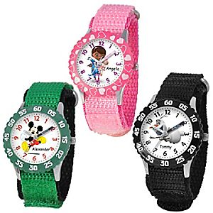 Customized Time Teacher Watch with Nylon Strap and Bezel for Kids