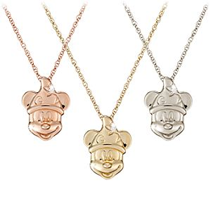 Diamond Sorcerer Mickey Mouse Necklace -- 14 Karat