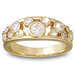 Diamond Icon Mickey Mouse Ring for Women -- 14 Karat Yellow Gold