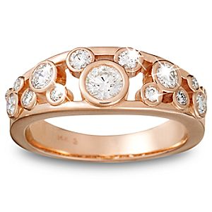 Diamond Icon Mickey Mouse Ring for Women -- 14 Karat Rose Gold
