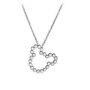 Diamond Silhouette Mickey Mouse Necklace -- Platinum