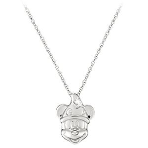 Diamond Sorcerer Mickey Mouse Necklace -- Platinum