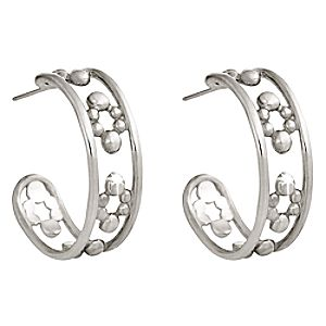 Platinum Hoop Icon Mickey Mouse Earrings