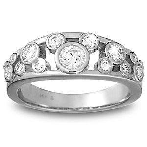 Diamond Icon Mickey Mouse Ring for Women -- Platinum
