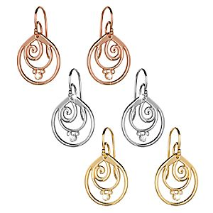 Mickey Mouse Diamond Swirl Earrings