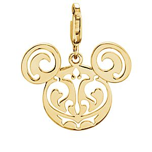 Mickey Mouse Filigree Icon Charm - 14K