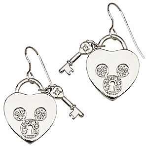 Mickey Mouse Icon Heart Earrings by Arribas