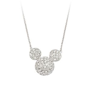 Mickey Mouse Icon Necklace by Arribas - Large Domed