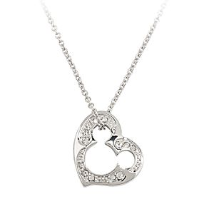 Mickey Mouse Icon Heart Necklace by Arribas