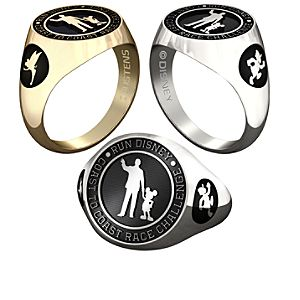 Donald Duck and Tinker Bell RunDisney Ring for Women by Jostens - Personalizable