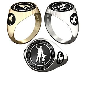 Mickey Mouse and Walt Disney with RunDisney Ring for Men by Jostens - Personalizable